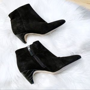 Sam Edelman Lucy Suede Heeled Booties Size 6